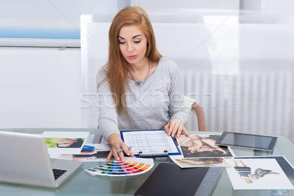 Color de trabajo negocios Foto stock © AndreyPopov