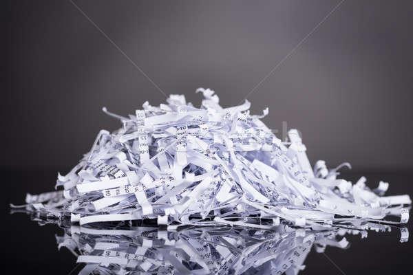 Pile of shredded documents Stock photo © AndreyPopov