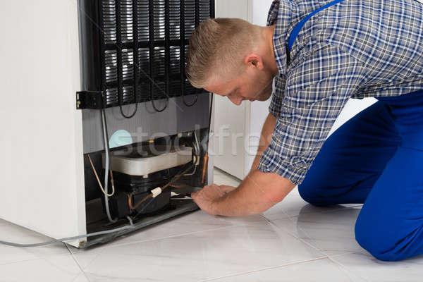 Repairman Making Refrigerator Appliance Stock photo © AndreyPopov