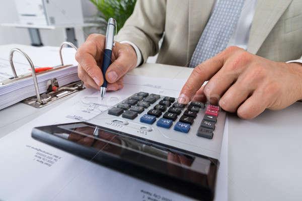 Ragioniere desk ufficio maschio uomo Foto d'archivio © AndreyPopov