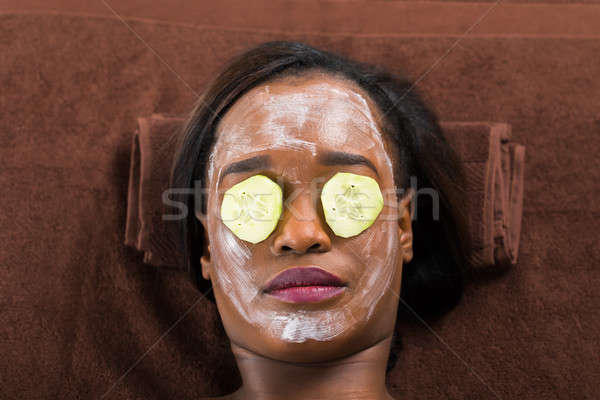 Woman With Facial Mask In Spa Stock photo © AndreyPopov