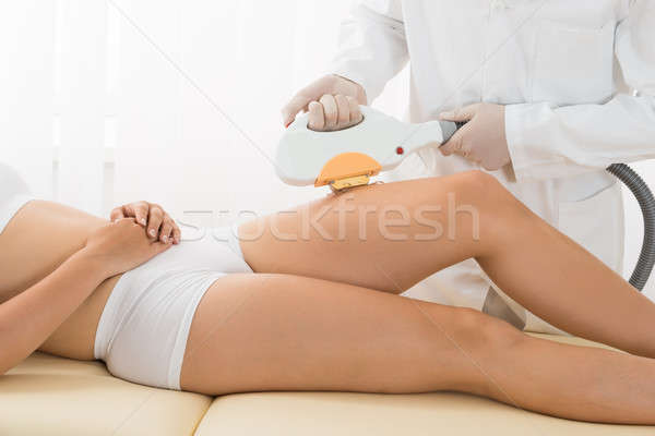 Young Woman Receiving Laser Epilation Stock photo © AndreyPopov