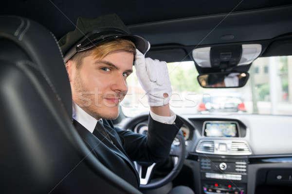Ritratto sorridere giovani autista auto bello Foto d'archivio © AndreyPopov