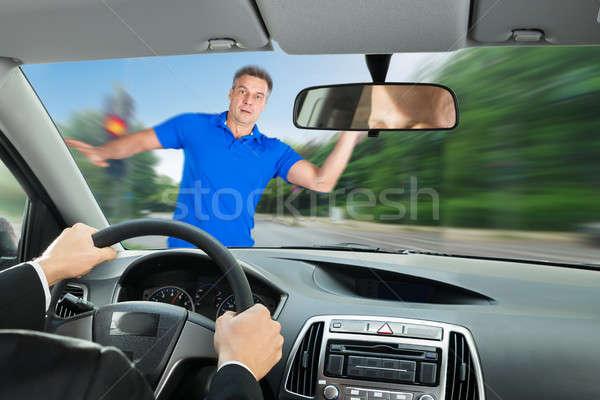 автомобилей аварии дороги человека улице подростку Сток-фото © AndreyPopov
