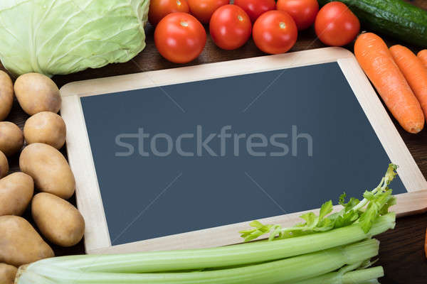 Blank Slate With Fresh Vegetables Stock photo © AndreyPopov