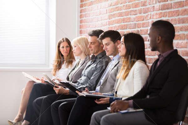 üzletemberek vár interjú csoport sokoldalú emberek Stock fotó © AndreyPopov