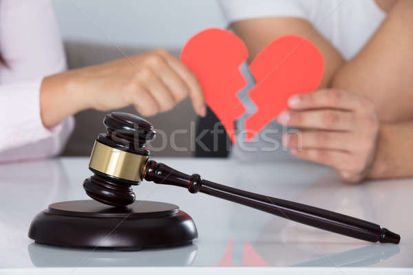 Stock photo: Close-up Of A Gavel On Desk In Courtroom