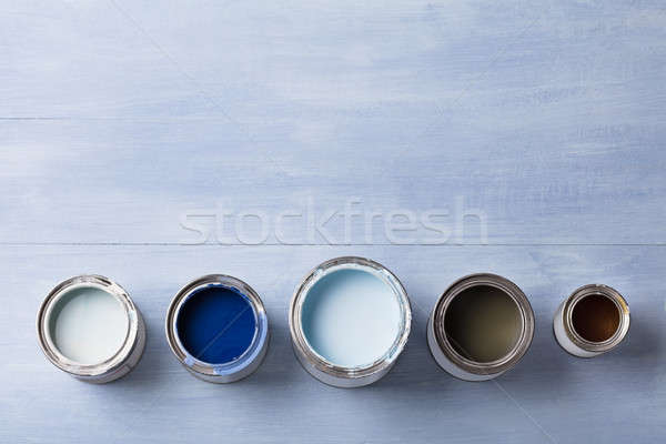 High Angle View Of Paint Can Stock photo © AndreyPopov