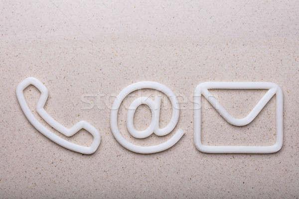 мнение различный контакт опции телефон стены Сток-фото © AndreyPopov