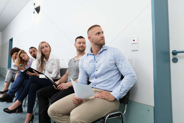 見える ドア グループ ビジネス 椅子 ストックフォト © AndreyPopov