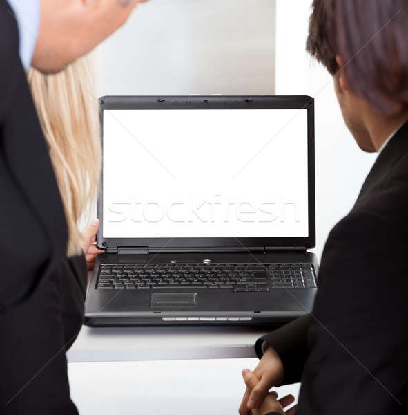 Сток-фото: деловые · люди · глядя · контроля · экране · пусто · бизнеса