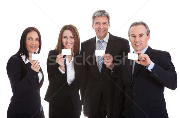 Businesspeople Holding Visiting Card Stock photo © AndreyPopov