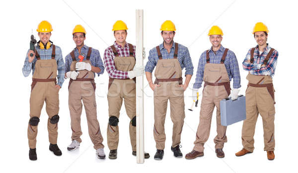 Group Of Workers With Equipment Stock photo © AndreyPopov