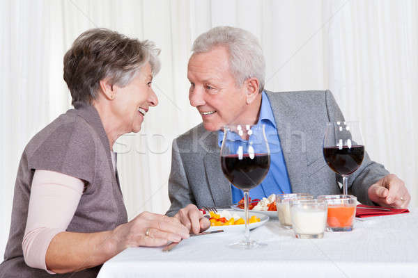 Senior Couple Enjoying Dinner Together Stock photo © AndreyPopov