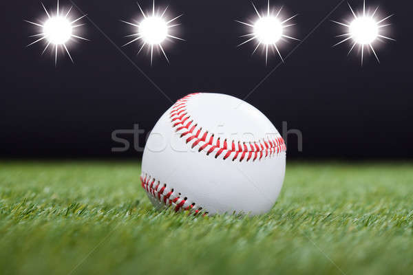 White Baseball Stock photo © AndreyPopov