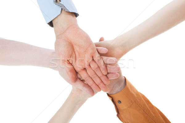 Friends With Their Hands Stacked Together Stock photo © AndreyPopov