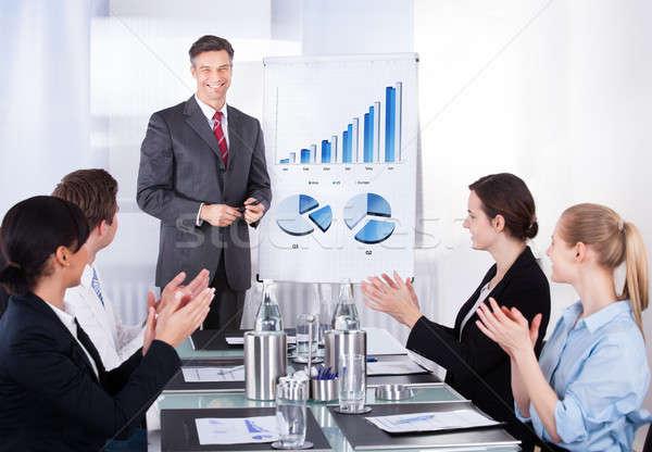 Manager conferenza gruppo felice Foto d'archivio © AndreyPopov