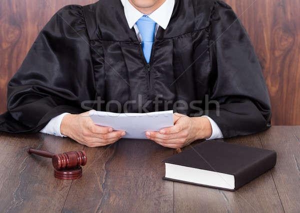 Judge Holding Documents Stock photo © AndreyPopov