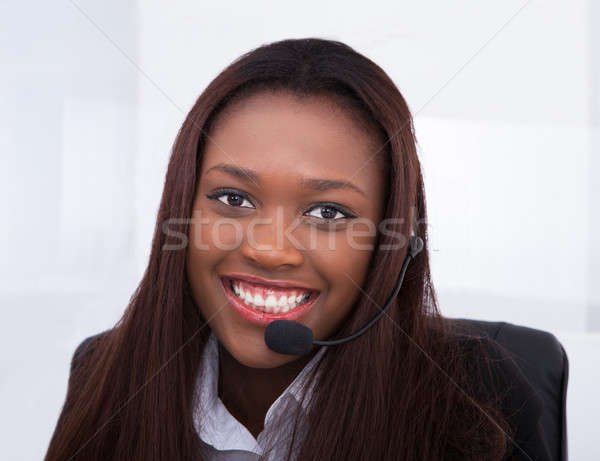 Klantenservice vertegenwoordiger werken bureau portret kantoor Stockfoto © AndreyPopov