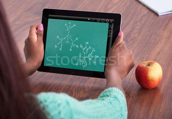 Diák kémia probléma osztályterem kép női Stock fotó © AndreyPopov