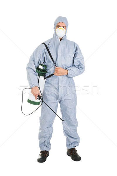 Pest Control Worker With Pesticides Sprayer Stock photo © AndreyPopov