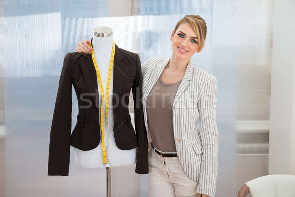 Fashion Designer With Dressmakers Model Stock photo © AndreyPopov