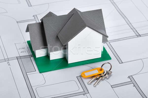 House Model With Keys Stock photo © AndreyPopov