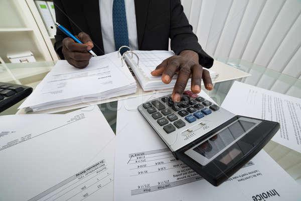Empresário negócio homem trabalhando Foto stock © AndreyPopov