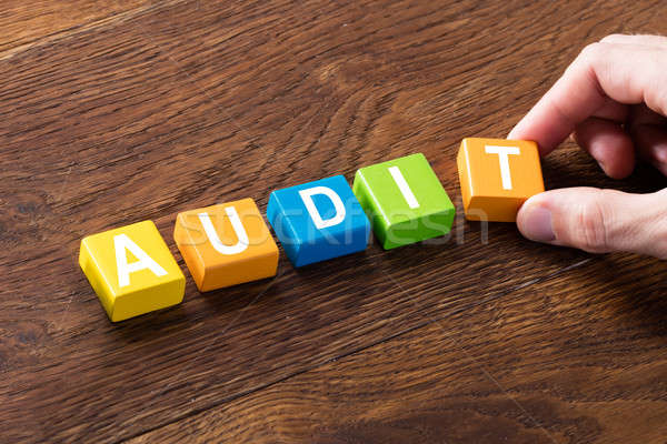 An Audit Concept On Colorful Block Stock photo © AndreyPopov