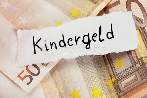 Geschreven witte papier kind toelage tekst Stockfoto © AndreyPopov