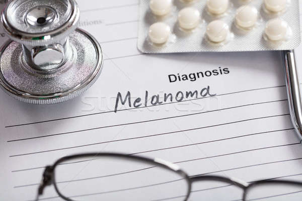 Text Melanoma On Paper Stock photo © AndreyPopov