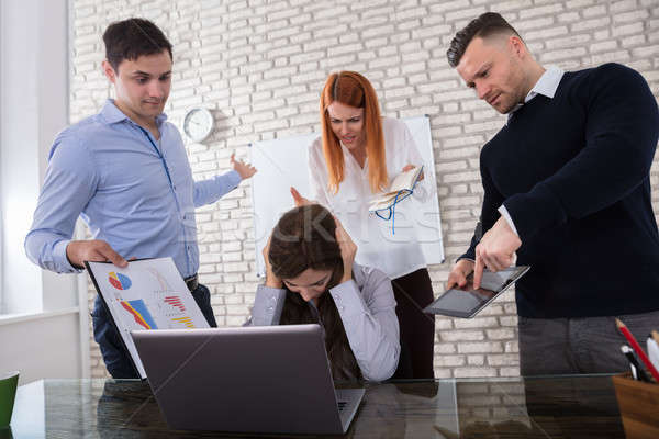 Woman Fired By Her Colleague Stock photo © AndreyPopov