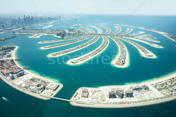 Aerial View Of Palm Island In Dubai Stock photo © AndreyPopov