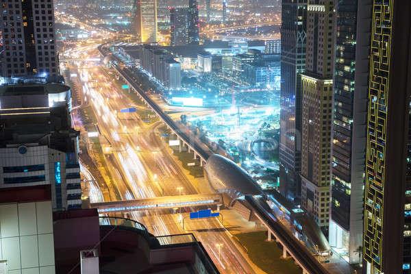 Strada metro stazione traffico notte città Foto d'archivio © AndreyPopov