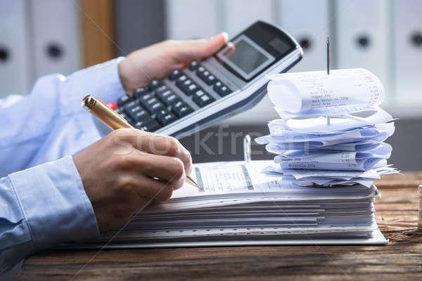 Kalkulator rachunek strony Zdjęcia stock © AndreyPopov