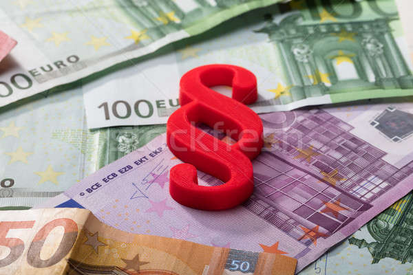 Absatz Symbol Euro Banknoten rot Stock foto © AndreyPopov