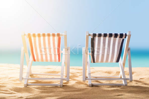 Stock photo: Close-up Of Two Deck Chairs