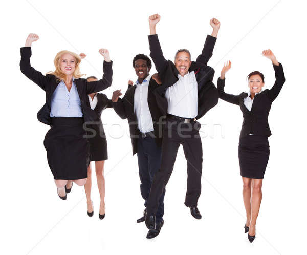 Happy Multi-racial Group Of Business People Stock photo © AndreyPopov