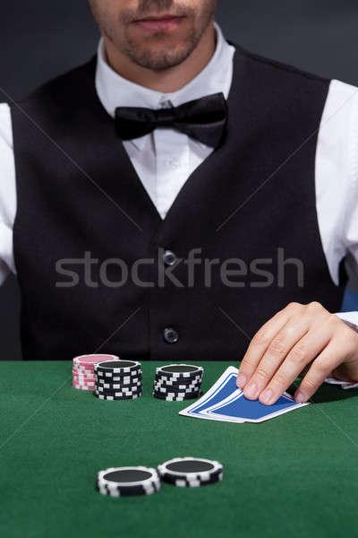 Hand of croupier Stock photo © AndreyPopov