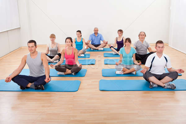 Group of people practicing yoga meditating Stock photo © AndreyPopov