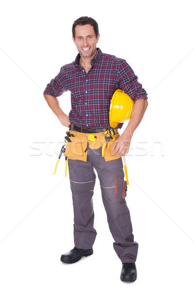 Young Worker Man With Hard Hat Stock photo © AndreyPopov