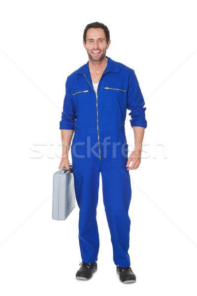 Portrait of happy automechanic Stock photo © AndreyPopov