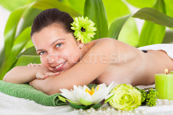 Young Woman In A Spa Stock photo © AndreyPopov