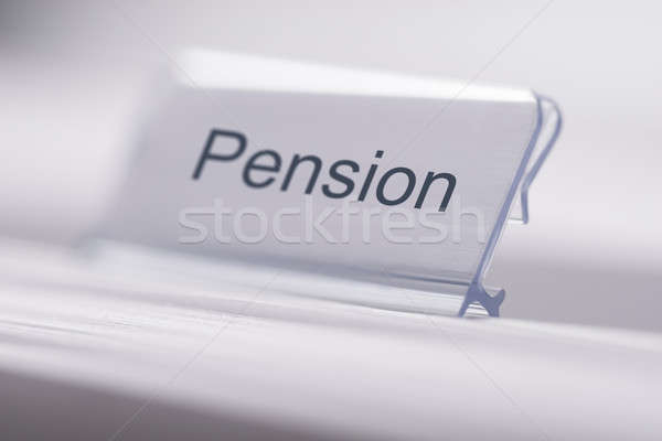 Pension Tag On Table Stock photo © AndreyPopov