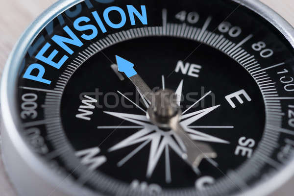 Compass Indicating Pension Stock photo © AndreyPopov