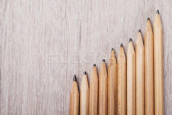 Progressive Graph Made From Pencils Stock photo © AndreyPopov