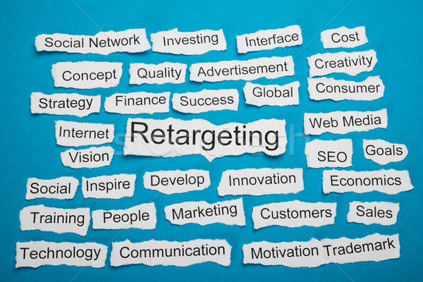 Word Retargeting On Piece Of Torn Paper Stock photo © AndreyPopov