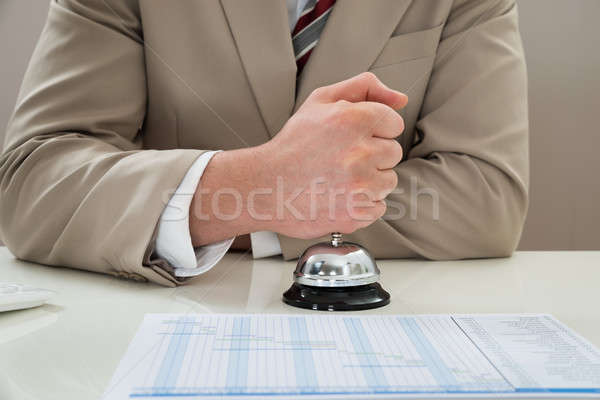 Businessman Ringing Service Bell Stock photo © AndreyPopov