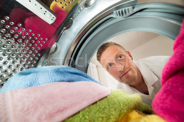 Man View From Inside The Washing Machine Stock photo © AndreyPopov