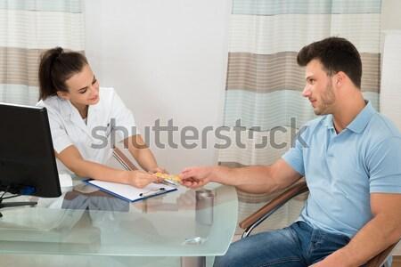 医師 血圧 患者 女性 男 ストックフォト © AndreyPopov